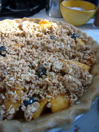 Peach Blueberry Pie with Goat Butter Crust!